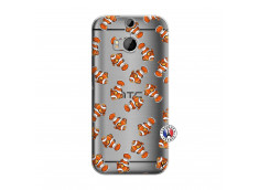 Coque HTC ONE M8 Petits Poissons Clown