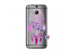 Coque HTC ONE M8 Purple Dreamcatcher