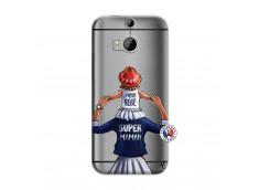 Coque HTC ONE M8 Super Maman Et Super Bébé