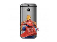 Coque HTC ONE M8 Super Papa et Super Bébé