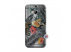 Coque HTC ONE M8 Leopard Tree