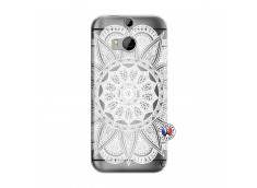 Coque HTC ONE M8 White Mandala