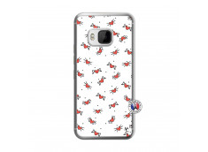 Coque HTC ONE M9 Cartoon Heart Translu