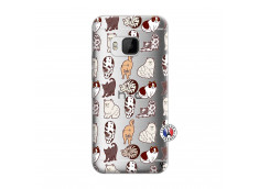 Coque HTC ONE M9 Cat Pattern