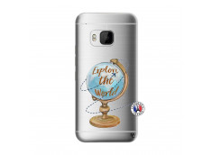 Coque HTC ONE M9 Globe Trotter