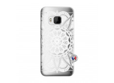 Coque HTC ONE M9 White Mandala