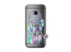 Coque HTC ONE Mini M8 Blue Painted Dreamcatcher