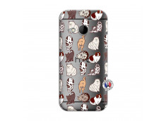 Coque HTC ONE Mini M8 Cat Pattern