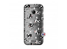 Coque HTC ONE Mini M8 Cow Pattern