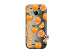 Coque HTC ONE Mini M8 Orange Gina