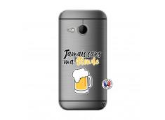Coque HTC ONE Mini M8 Jamais Sans Ma Blonde