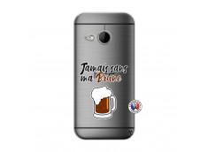 Coque HTC ONE Mini M8 Jamais Sans Ma Brune