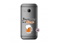 Coque HTC ONE Mini M8 Jamais Sans Ma Rousse