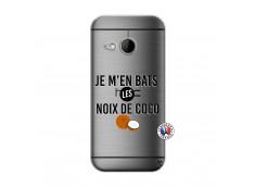 Coque HTC ONE Mini M8 Je m'en bats Les Noix De Coco