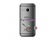 Coque HTC ONE Mini M8 Je Peux Pas J Ai Badminton