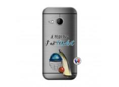 Coque HTC ONE Mini M8 Je peux pas j'ai cricket