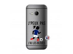 Coque HTC ONE Mini M8 Je Peux Pas J Ai Les Bleues Maillot