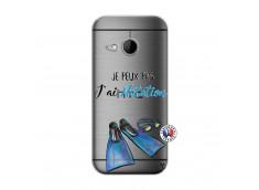 Coque HTC ONE Mini M8 Je Peux Pas J Ai Natation