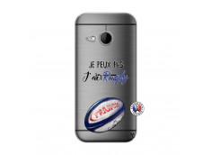 Coque HTC ONE Mini M8 Je Peux Pas J Ai Rugby