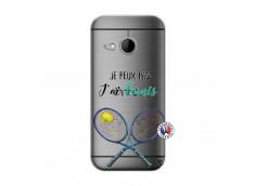 Coque HTC ONE Mini M8 Je Peux Pas J Ai Tennis