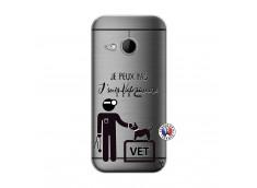 Coque HTC ONE Mini M8 Je Peux Pas Je Suis Veterinaire