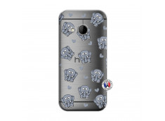 Coque HTC ONE Mini M8 Petits Elephants