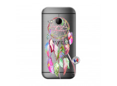 Coque HTC ONE Mini M8 Pink Painted Dreamcatcher