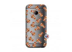 Coque HTC ONE Mini M8 Petits Poissons Clown