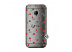 Coque HTC ONE Mini M8 Rose Pattern