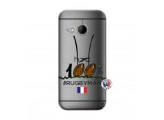 Coque HTC ONE Mini M8 100 % Rugbyman Entre les Poteaux
