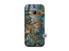 Coque HTC ONE Mini M8 Leopard Jungle