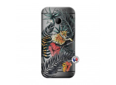 Coque HTC ONE Mini M8 Leopard Tree