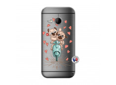 Coque HTC ONE Mini M8 Puppies Love