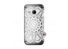 Coque HTC ONE Mini M8 White Mandala