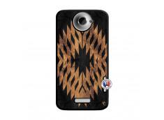 Coque HTC ONE X/XL Aztec One Motiv Noir