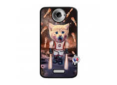 Coque HTC ONE X/XL Cat Nasa Noir