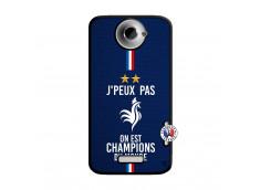 Coque HTC ONE X/XL Je Peux Pas On Est Les Champions Du Monde Noir
