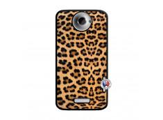 Coque HTC ONE X/XL Leopard Style Noir