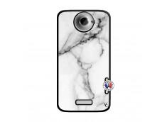 Coque HTC ONE X/XL White Marble Noir