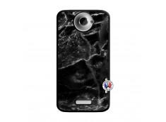Coque HTC ONE X/XL Black Marble Noir