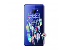 Coque HTC U Play Blue Painted Dreamcatcher