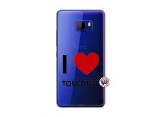 Coque HTC U Play I Love Toulouse