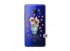 Coque HTC U Play Puppies Love