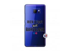 Coque HTC U Ultra Rien A Foot Allez Barcelone