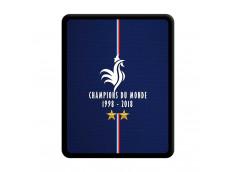 Coque iPad 1 Champions Du Monde 1998 2018 Noire
