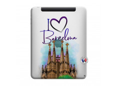 Coque iPad 1 I Love Barcelona