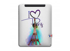 Coque iPad 1 I Love Paris