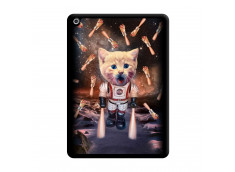 Coque iPad 2018/2017 Cat Nasa Noir