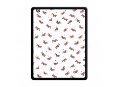 Coque iPad 2 Cartoon Heart Noir