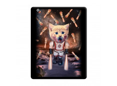 Coque iPad 2 Cat Nasa Noir